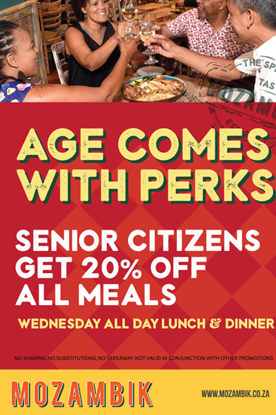 Pensioners 20% off Mozambik